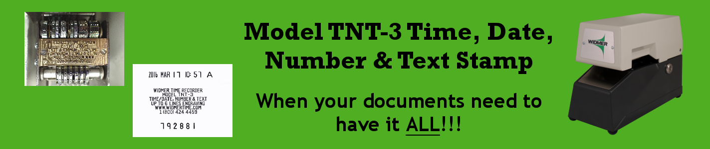 Model TNT-3 Time,Date, Number & Text Stamp