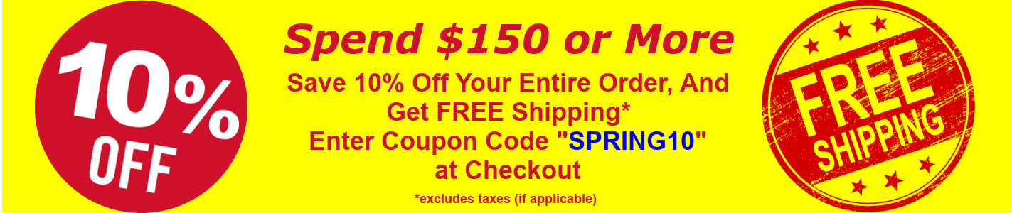 Spring 2019 - 10% Off and Free Shipping Sale Banner